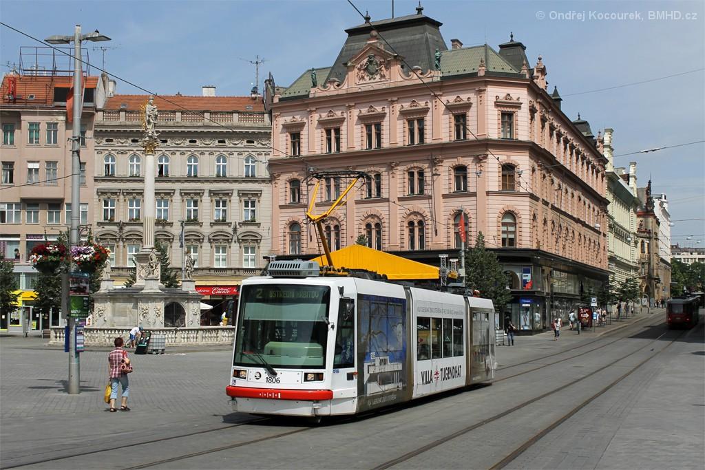 Fotogalerie » Škoda 03T6 1806   Brno   střed   náměstí Svobody