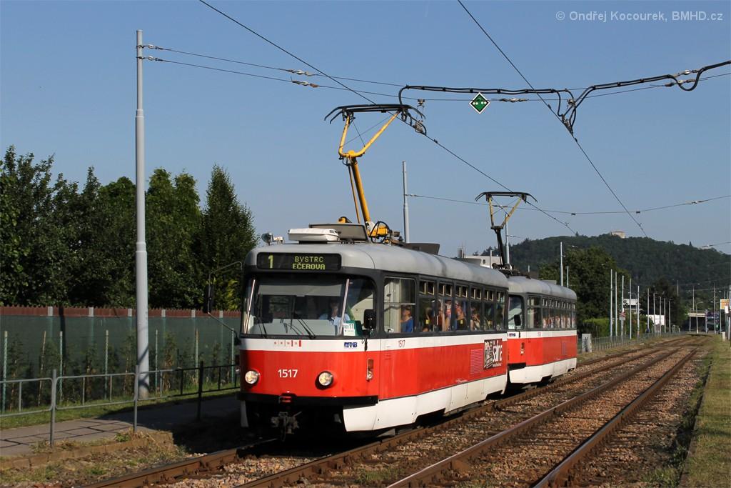 Fotogalerie » Pragoimex T3R.PV 1517 | Pragoimex T3R.PV 1558 | Brno | Komín | Kníničská
