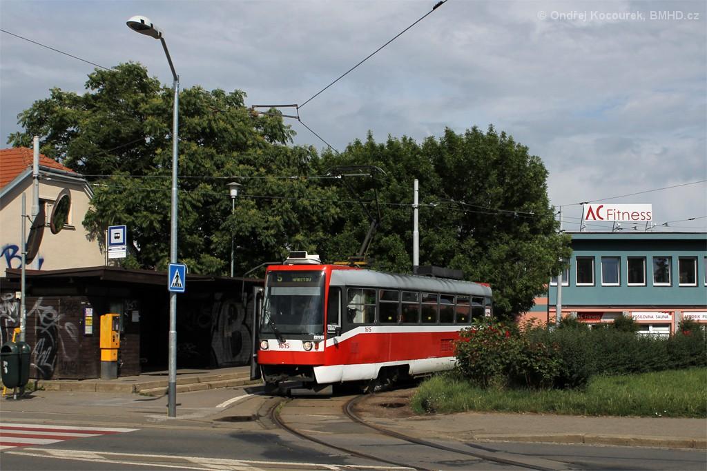 Fotogalerie » ČKD Tatra T3R 1615   Brno   Štefánikova Čtvrť   Merhautova   Štefánikova čtvrť