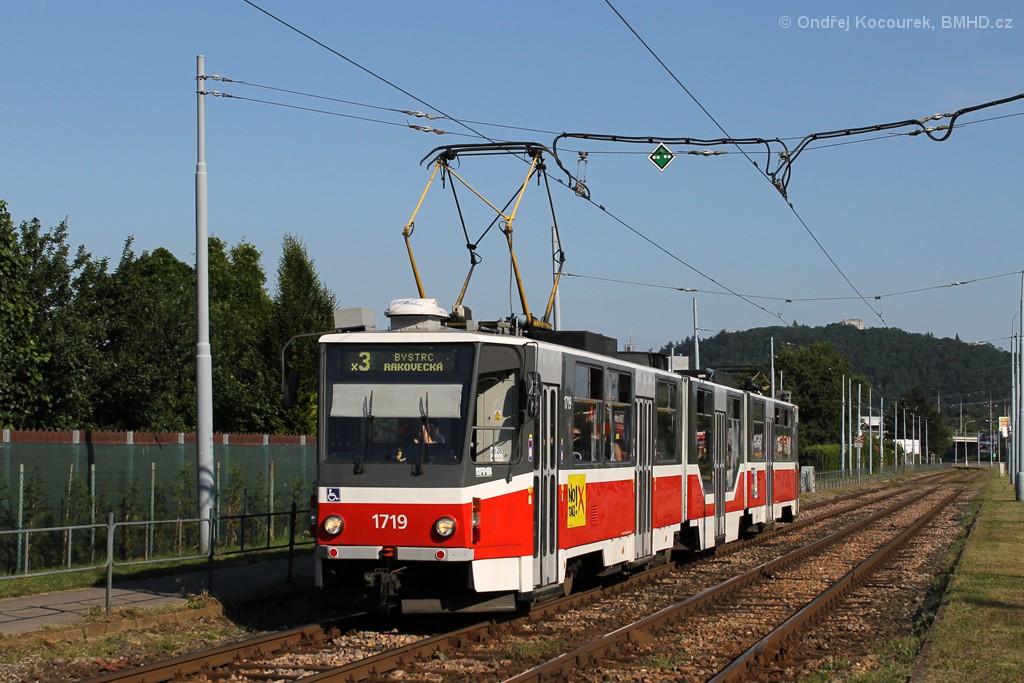 Fotogalerie » ČKD Tatra KT8D5R.N2 1719 | Brno | Komín | Kníničská