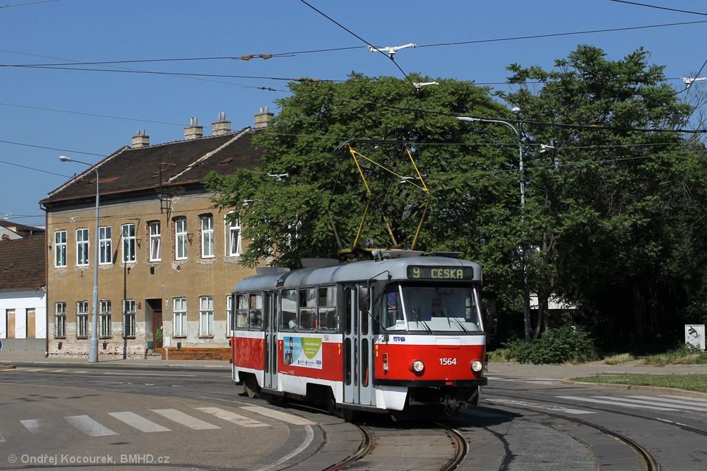 Fotogalerie » ČKD Tatra T3P 1564   Brno   Židenice   Životského