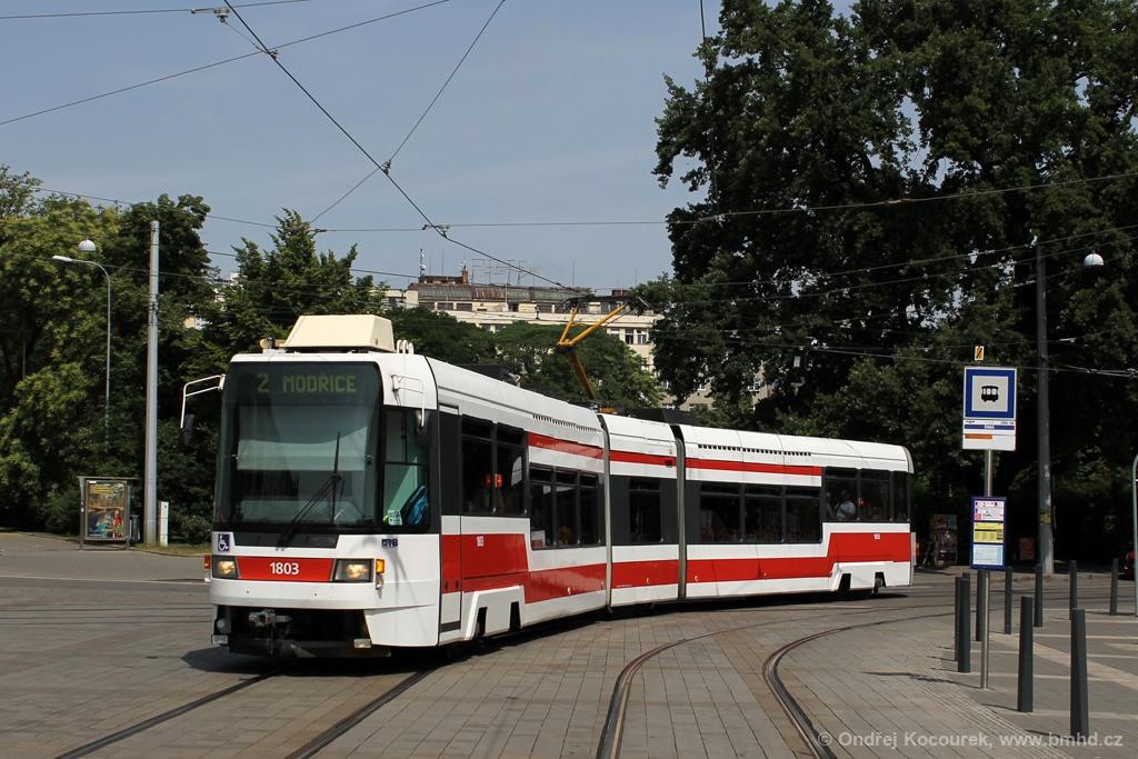 Fotogalerie » ČKD DS RT6N1 1803   Brno   střed   Moravské náměstí