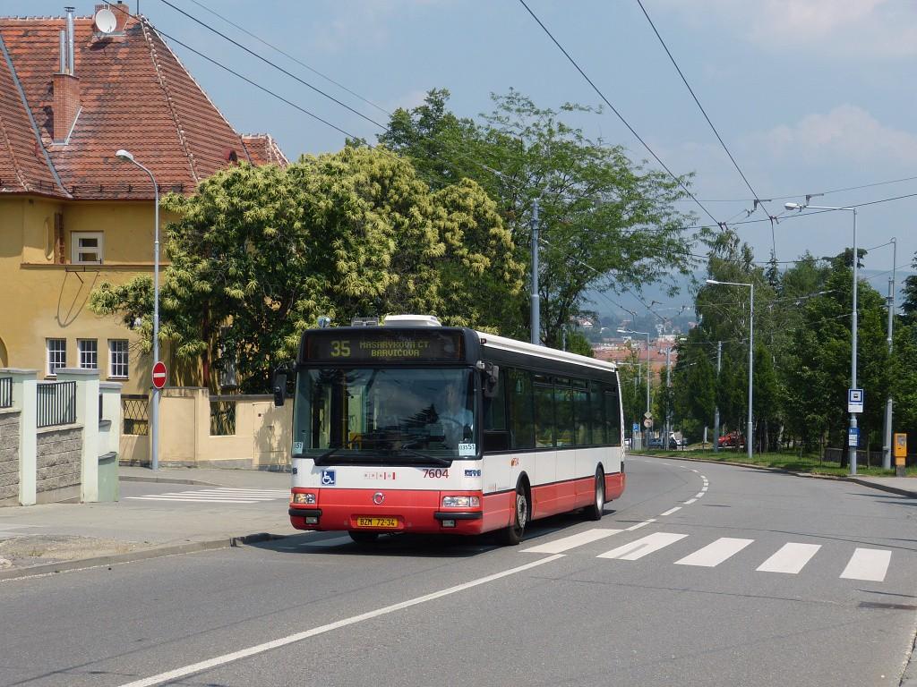 Fotogalerie » Irisbus Citybus 12M 2071.20 BZM 72-34 7604 | Brno | Masarykova čtvrť | Tvrdého | Žlutý kopec