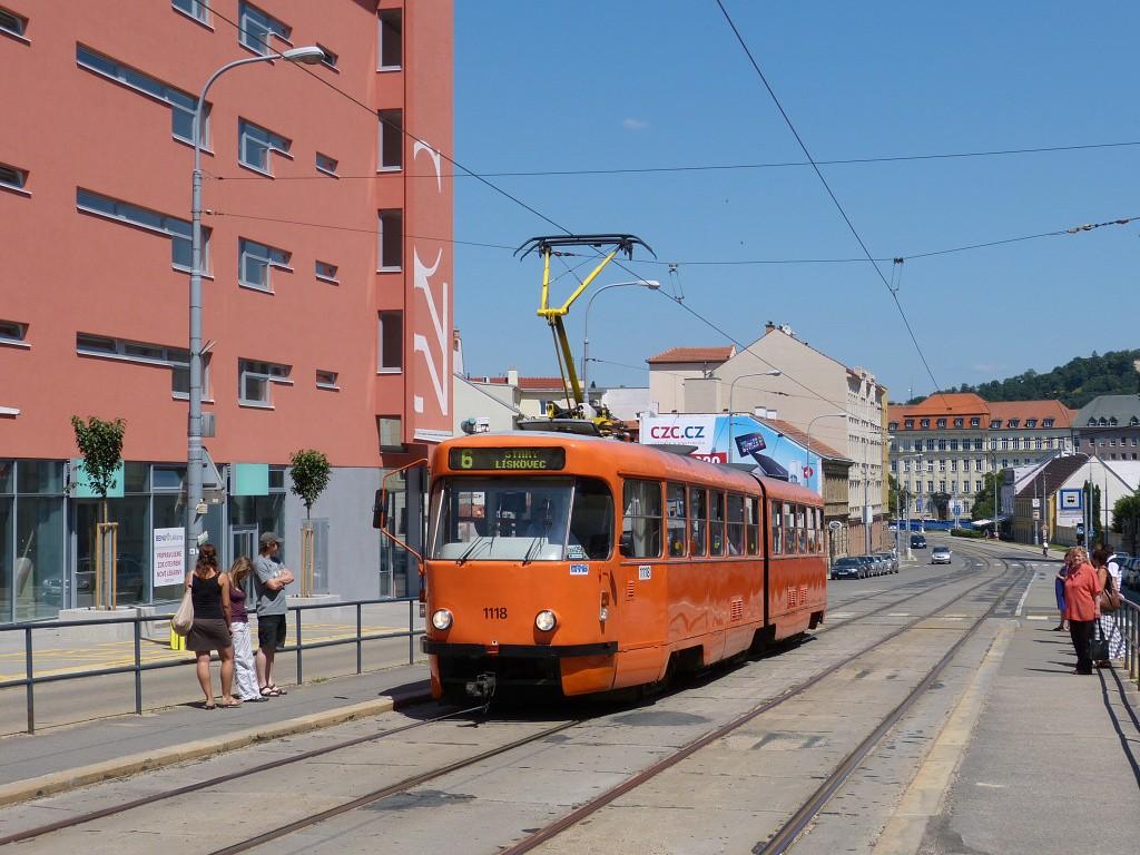 Fotogalerie » ČKD Tatra K2P 1118 | Brno | Štýřice | Vídeňská | Nemocnice Milosrdných bratří