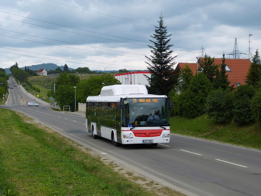 Fotogalerie » SOR NBG 12 4E8 8965   Brno   Ivanovice   Černohorská