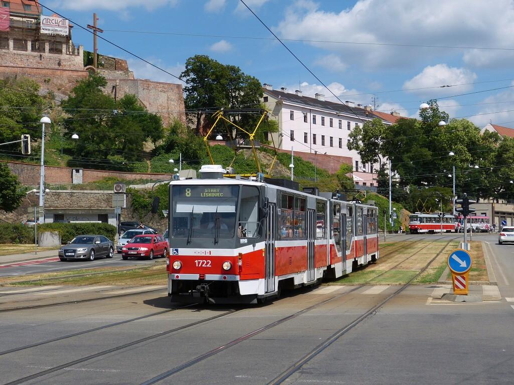 Fotogalerie » ČKD Tatra KT8D5R.N2 1722 | Brno | střed | Nádražní
