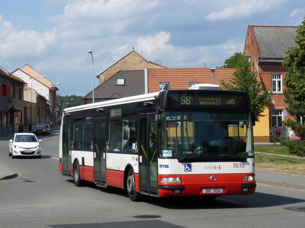 Fotogalerie » Irisbus Citybus 12M 2071.40 2B9 8004 7619   Brno   Líšeň   náměstí Karla IV.