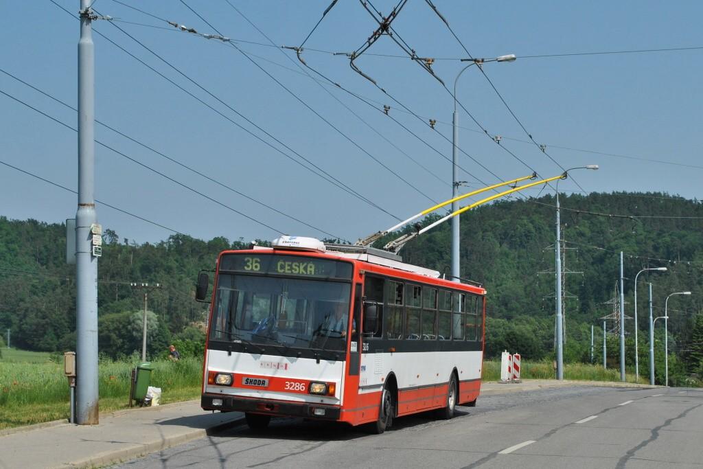 Fotogalerie » Škoda 14TrR 3286 | Brno | Komín | Řezáčova | Komín, sídliště