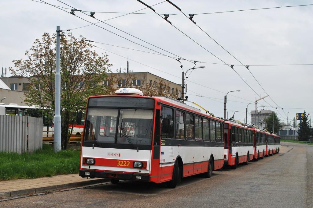Fotogalerie » Škoda 14TrR 3222 | Brno | Slatina | vozovna Slatina