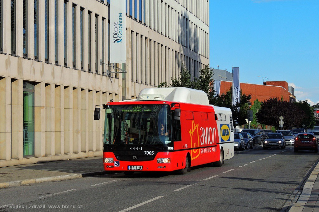 Fotogalerie » SOR NBG 12 9B7 9168 7005 | Brno | Trnitá | Trnitá