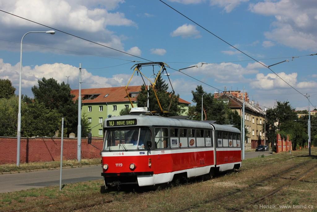 Fotogalerie » ČKD Tatra K2P 1119 | Brno | Židenice | Nezamyslova