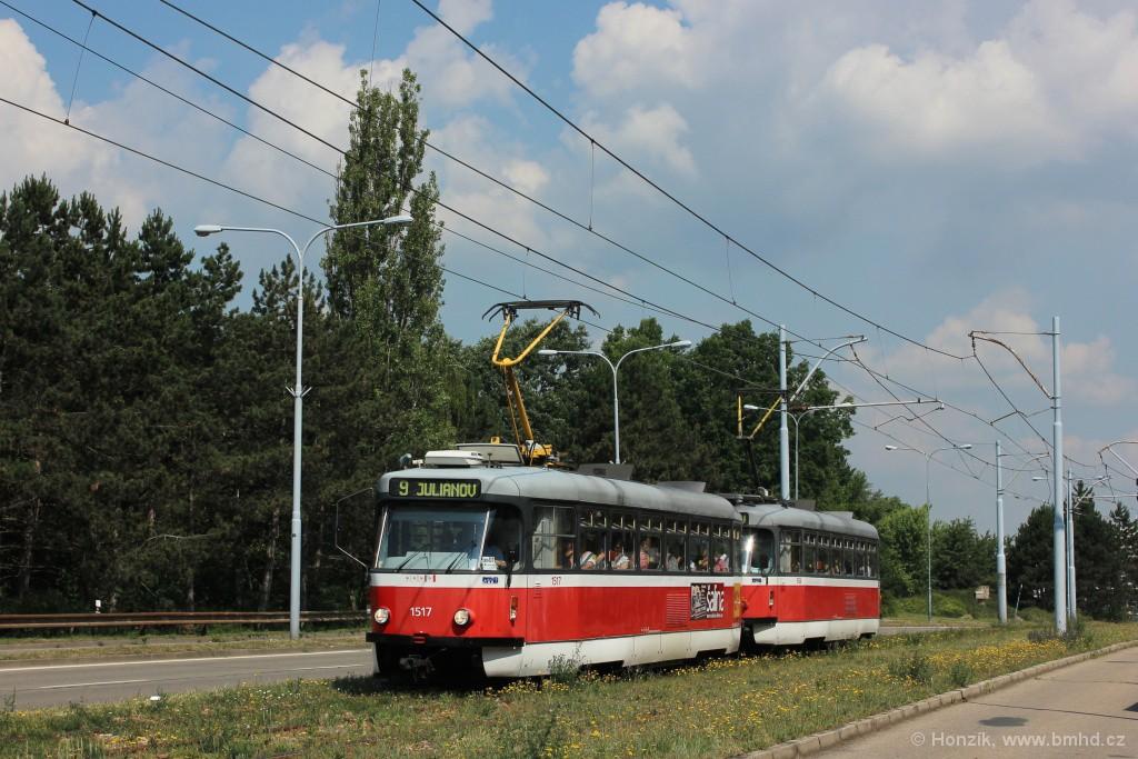 Fotogalerie » Pragoimex T3R.PV 1517   Pragoimex T3R.PV 1558   Brno   Černá Pole   třída Generála Píky