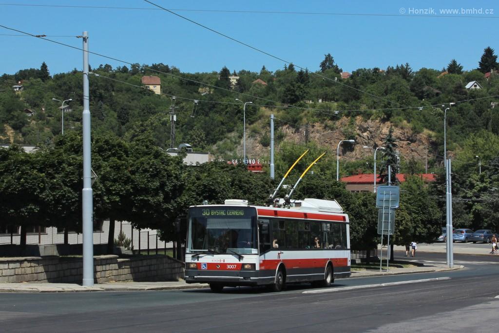 Fotogalerie » Škoda 21Tr 3007 | Brno | Královo Pole | Kosmova