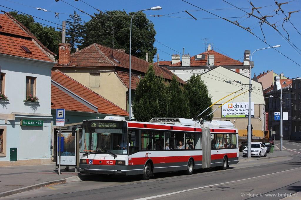 Fotogalerie » Škoda 22Tr 3602 | Brno | Pisárky | Hlinky | Výstaviště, hlavní vstup