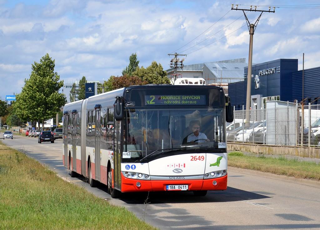 Fotogalerie » Solaris Urbino 18 III 1BA 0411 2649 | Brno | Přízřenice | Vídeňská