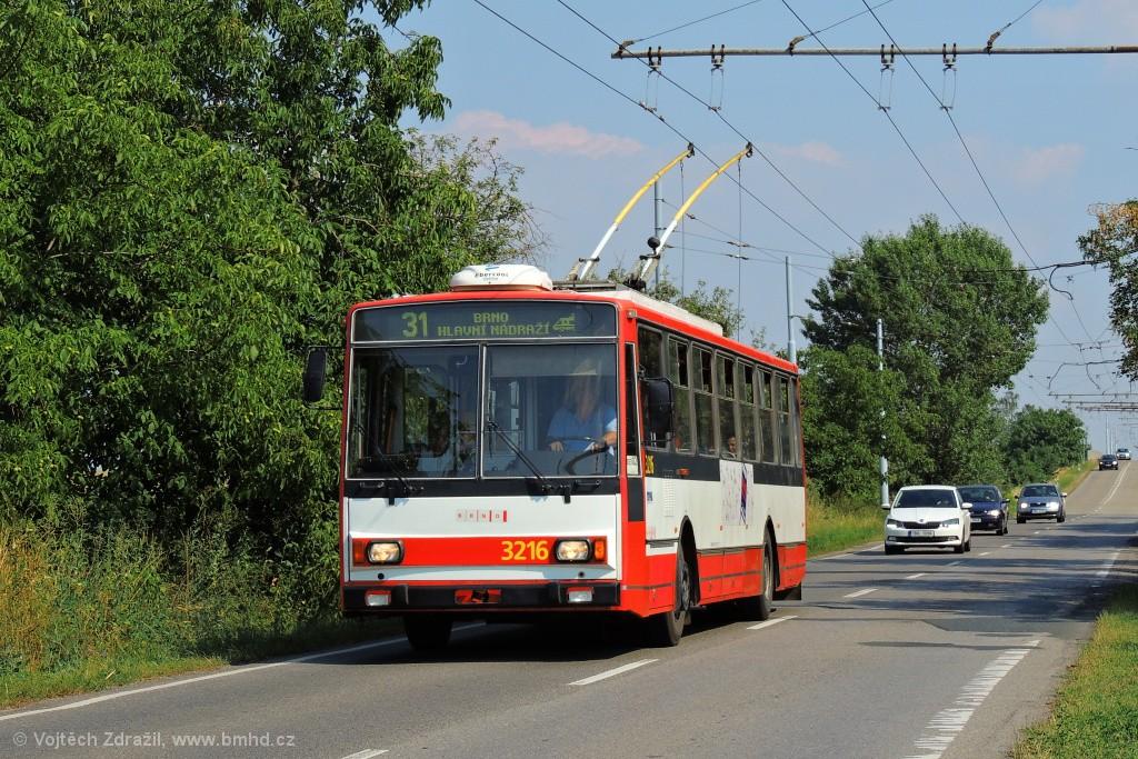 Fotogalerie » Škoda 14Tr08/6 3216 | Brno | Slatina | Šlapanická