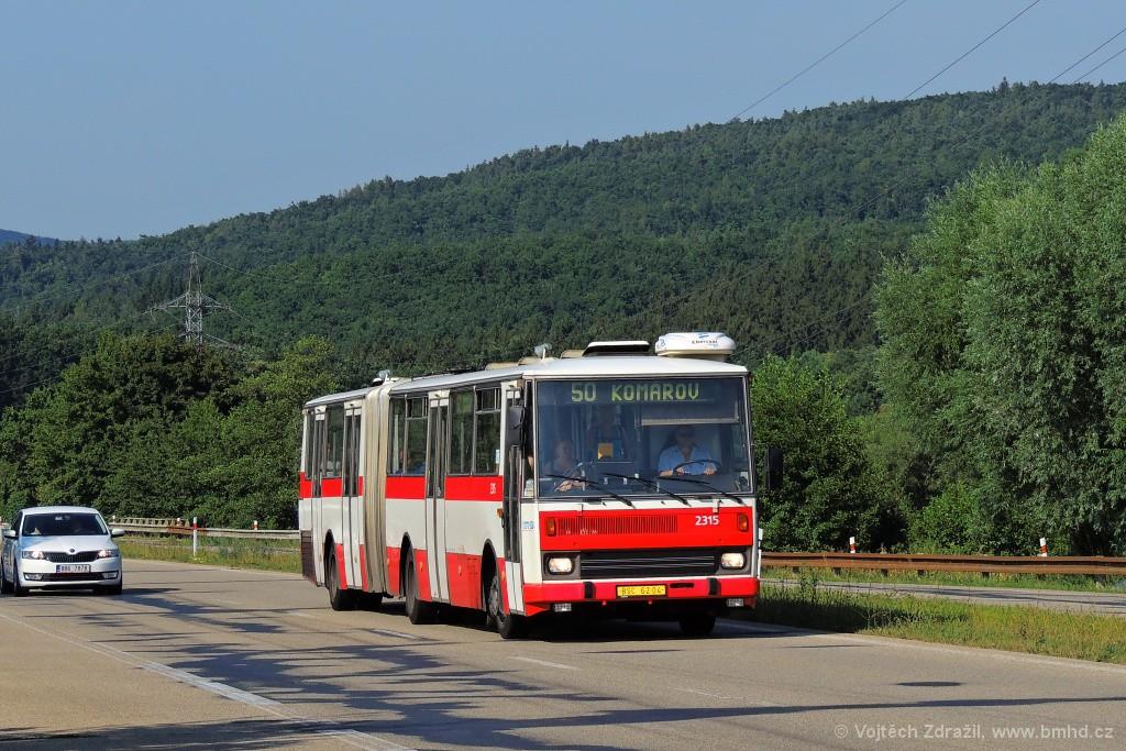 Fotogalerie » Karosa B741.1924 BSC 62-04 2315 | Brno | Žebětín | Stará Dálnice