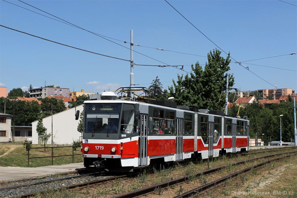 Fotogalerie » ČKD Tatra KT8D5R.N2 1719 | Brno | Bohunice