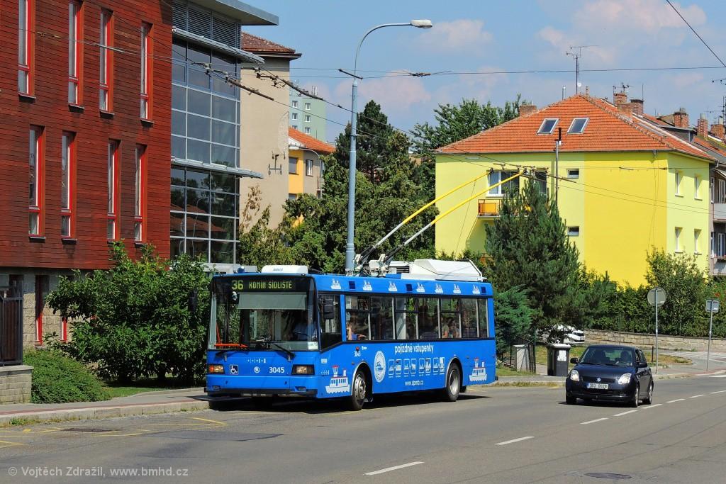 Fotogalerie » Škoda 21Tr 3045 | Brno | Žabovřesky | Kroftova | Vrázova