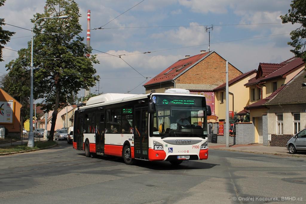 Fotogalerie » Iveco Urbanway 12M CNG 1BC 7550 7100   Brno   Maloměřice   Dolnopolní