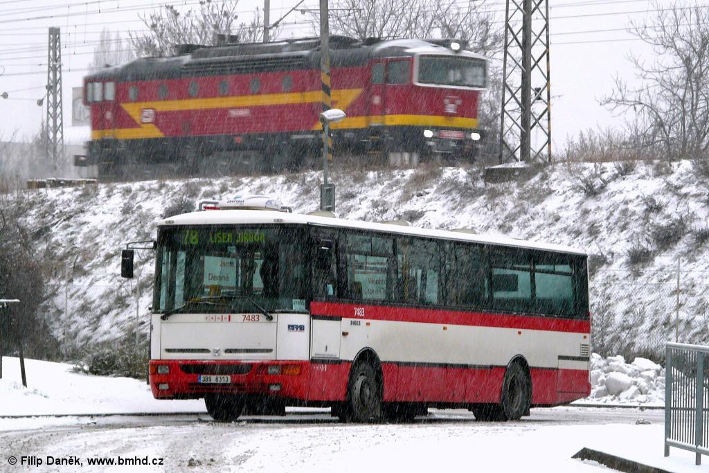 Fotogalerie » Karosa B951E.1713 3B9 8313 7483 | Brno | Židenice | Lazaretní | Židenice, nádraží