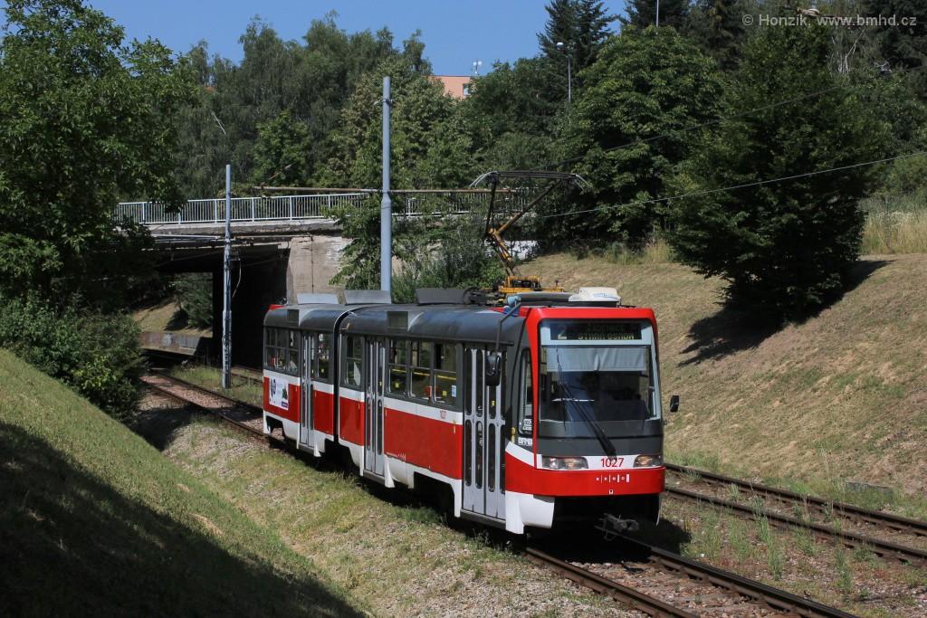 Fotogalerie » ČKD Tatra K2R03 1027 | Brno | Bohunice