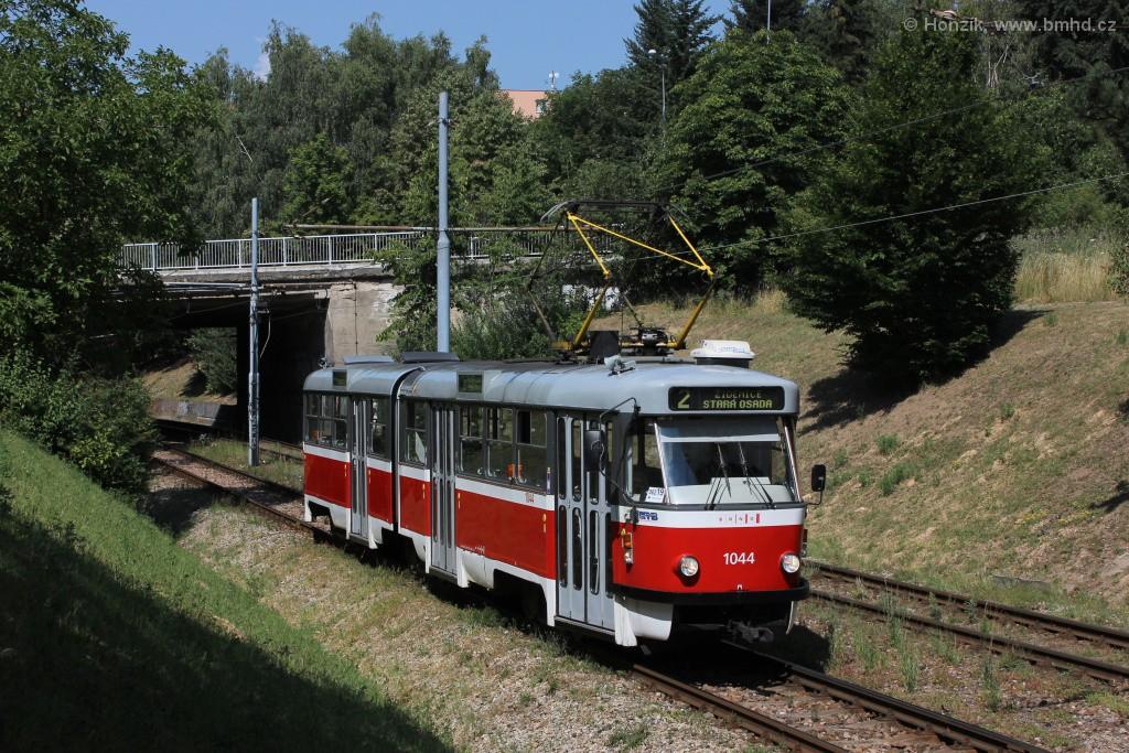 Fotogalerie » ČKD Tatra K2T 1044 | Brno | Bohunice