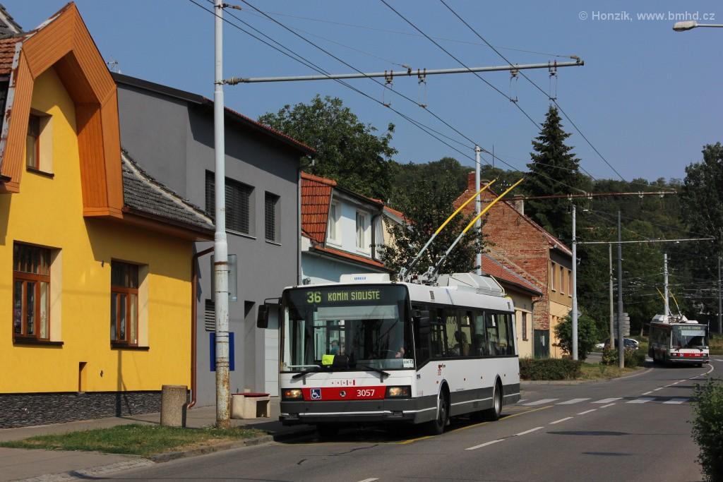Fotogalerie » Škoda 21TrAC 3057 | Brno | Komín | Hlavní | Podveská