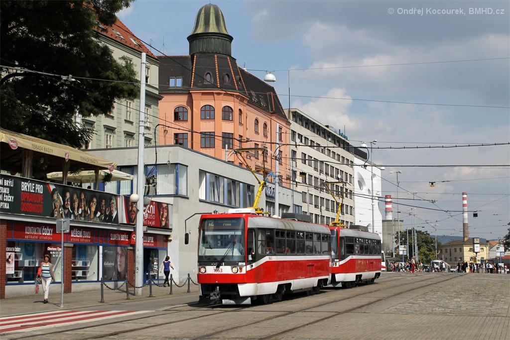 Fotogalerie » ČKD DS T3R 1663 | ČKD DS T3R 1664 | Brno | střed | Nádražní