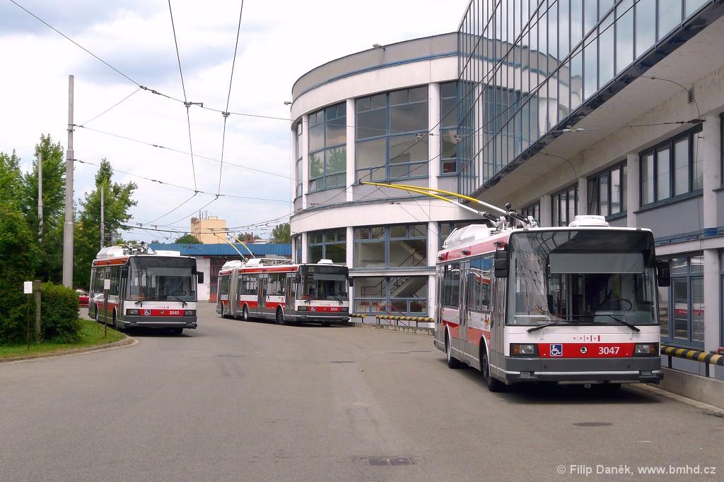 Fotogalerie » Škoda 21Tr 3047 | Škoda 22Tr 3604 | Škoda 21TrIGCT 3040 | Brno | vozovna Komín