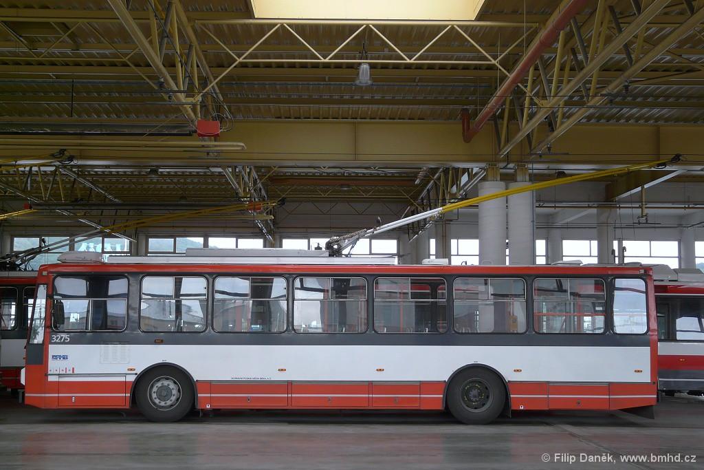 Fotogalerie » Škoda 14Tr17/6M 3275   Brno   vozovna Komín