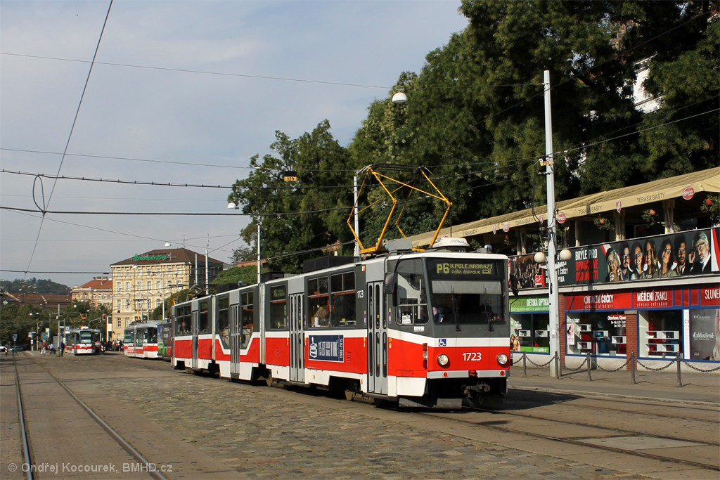 Fotogalerie » ČKD Tatra KT8D5R.N2 1723 | Brno | střed | Nádražní
