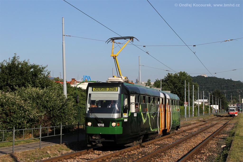 Fotogalerie » ČKD Tatra K2R-RT 1018 | Brno | Komín | Kníničská