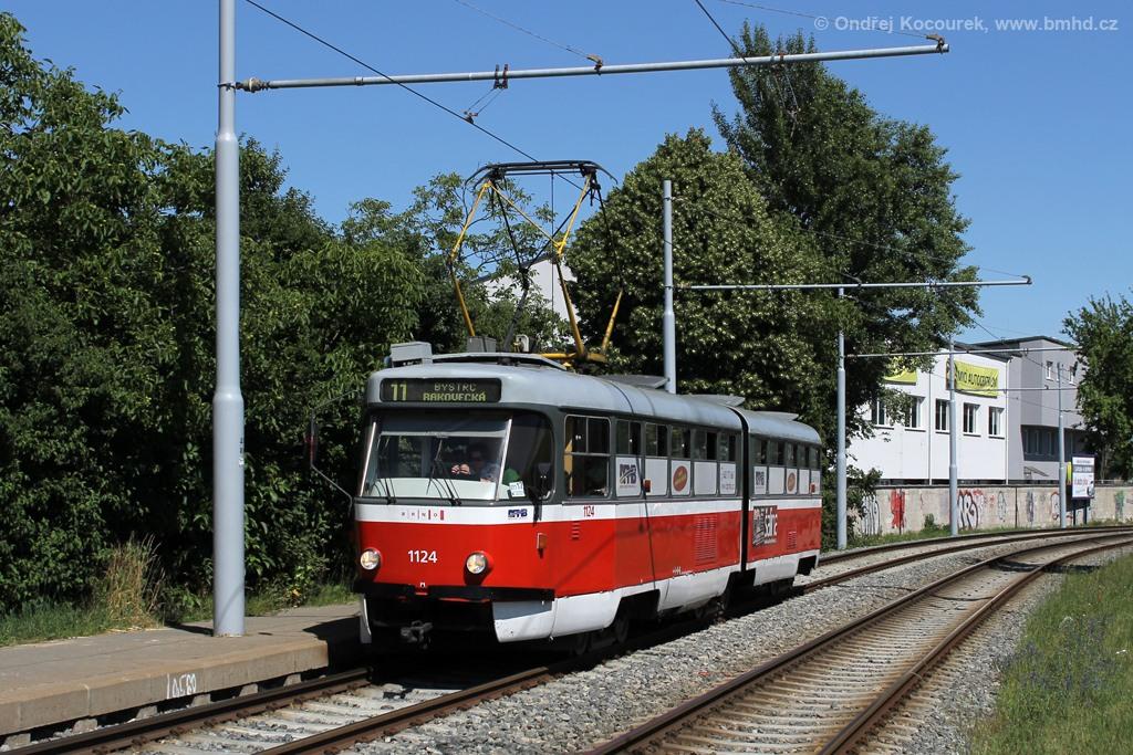 Fotogalerie » ČKD Tatra K2 1124   Brno   Žabovřesky   Kníničská