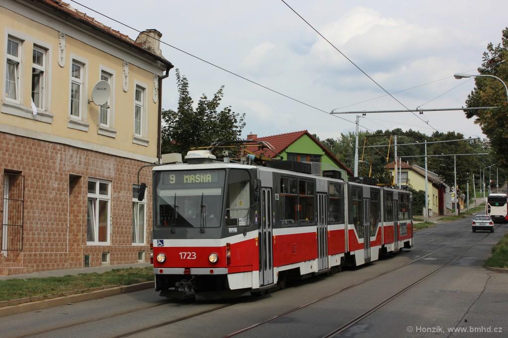 Fotogalerie » ČKD Tatra KT8D5R.N2 1723 | Brno | Židenice | Líšeňská