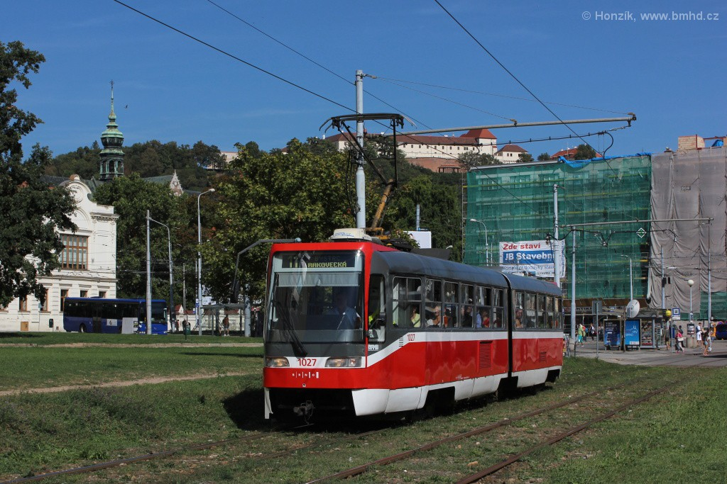 Fotogalerie » ČKD Tatra K2R03 1027 | Brno | Staré Brno | Hlinky