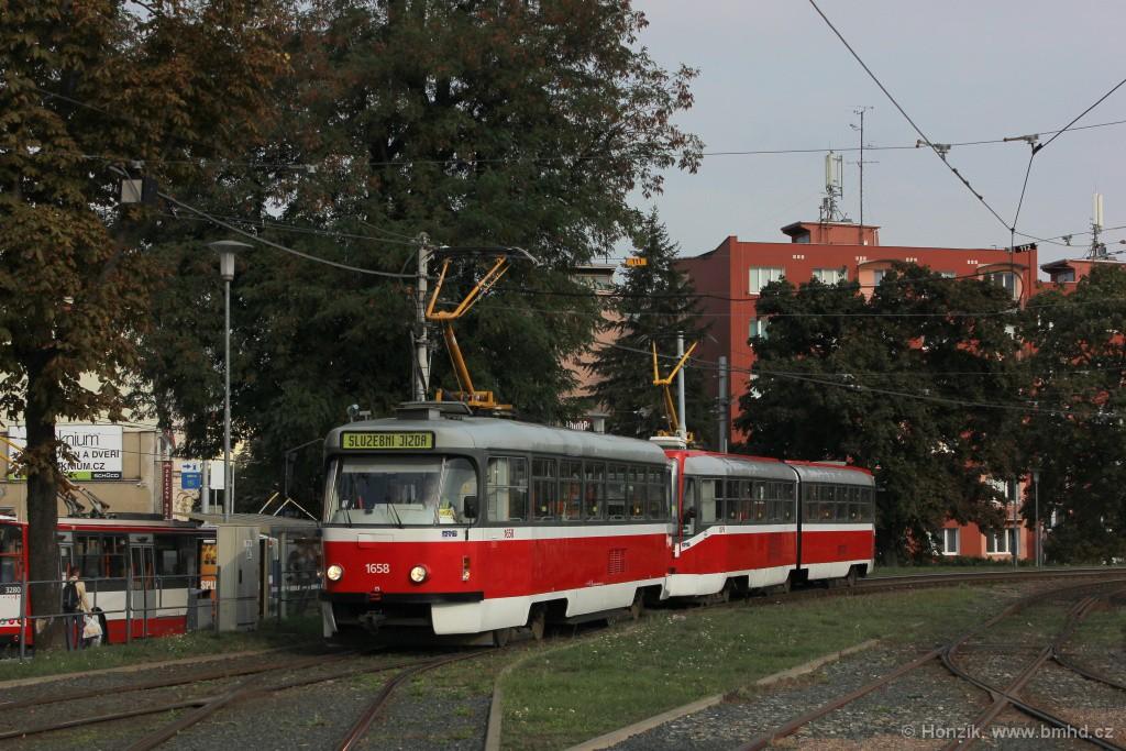 Fotogalerie » Pragoimex T3R.PV 1658 | ČKD Tatra K2R03 1079 | Brno | Pisárky | Hlinky