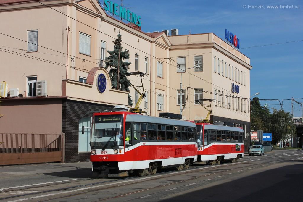 Fotogalerie » ČKD DS T3R 1667 | ČKD DS T3R 1668 | Brno | Černovice | Olomoucká