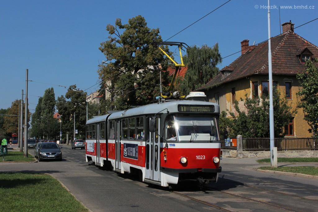 Fotogalerie » ČKD Tatra K2P 1023 | Brno | Černá Pole | Lesnická