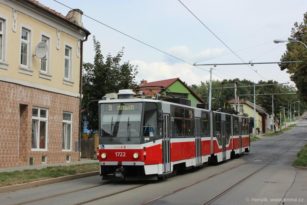 Fotogalerie » ČKD Tatra KT8D5R.N2 1722   Brno   Židenice   Líšeňská