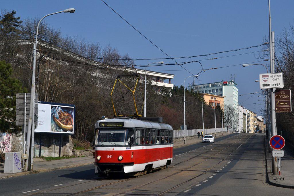 Fotogalerie » ČKD Tatra T3M 1541 | Brno | Černá Pole | Milady Horákové