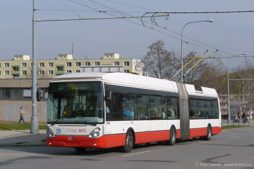 Fotogalerie » Škoda 25Tr Citelis 1B 3615 | Brno | Kohoutovice | Libušina třída