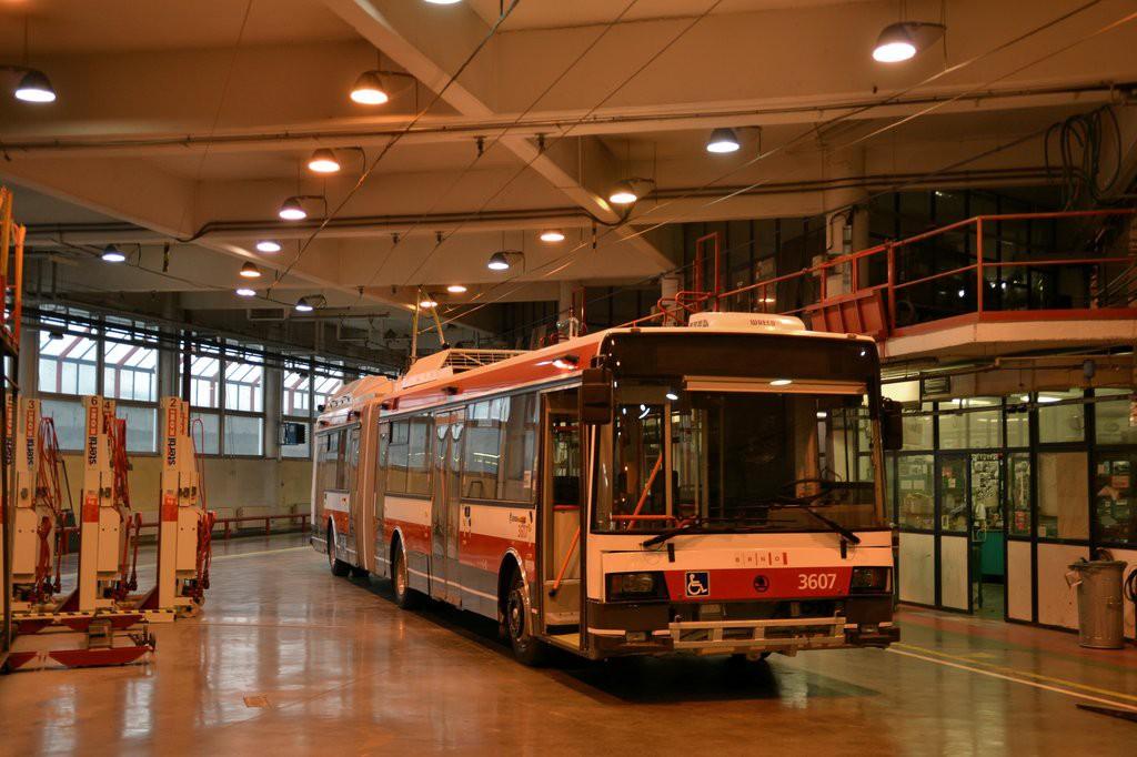 Fotogalerie » Škoda 22Tr 3607 | Brno | Komín | vozovna Komín