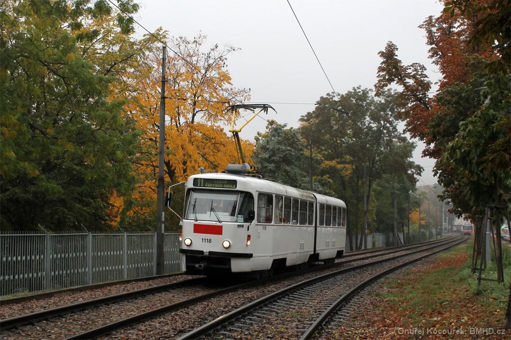 Fotogalerie » ČKD Tatra K2P 1118 | Brno | Pisárky | Hlinky