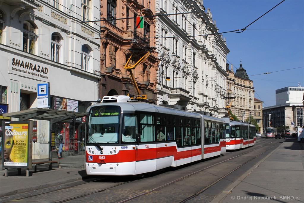 Fotogalerie » Pragoimex VarioLF2R.E 1083 | Pragoimex VarioLF2R.E 1109 | Brno | střed | Rooseveltova | Malinovského náměstí