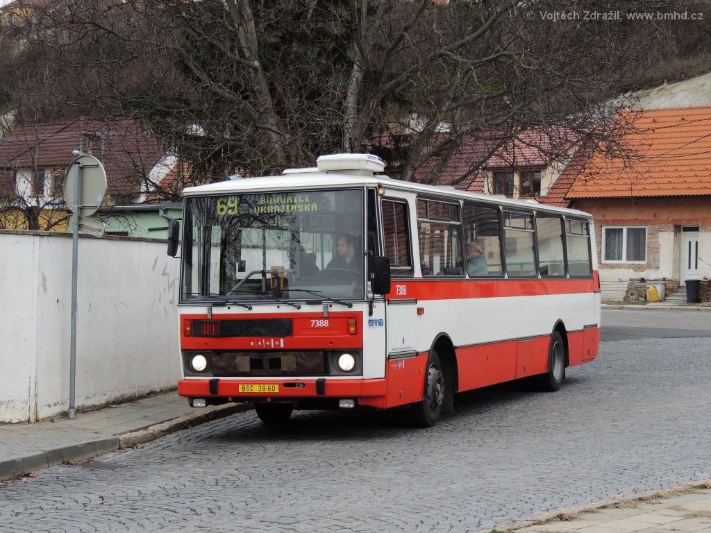 Fotogalerie » Karosa B732.1654.3 BSC 39-60 7388 | Brno | Bosonohy | U smyčky | Bosonohy
