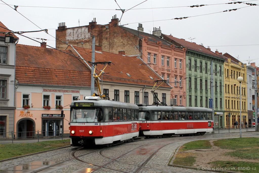 Fotogalerie » Pragoimex T3R.PV 1517 | Pragoimex T3R.PV 1558 | Brno | Staré Brno | Mendlovo náměstí