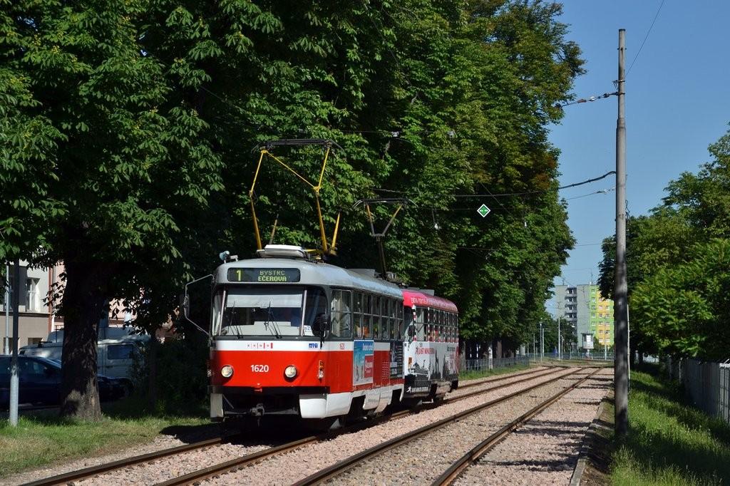Fotogalerie » ČKD Tatra T3P 1620 | ČKD Tatra T3P 1589 | Brno | Pisárky | Hlinky