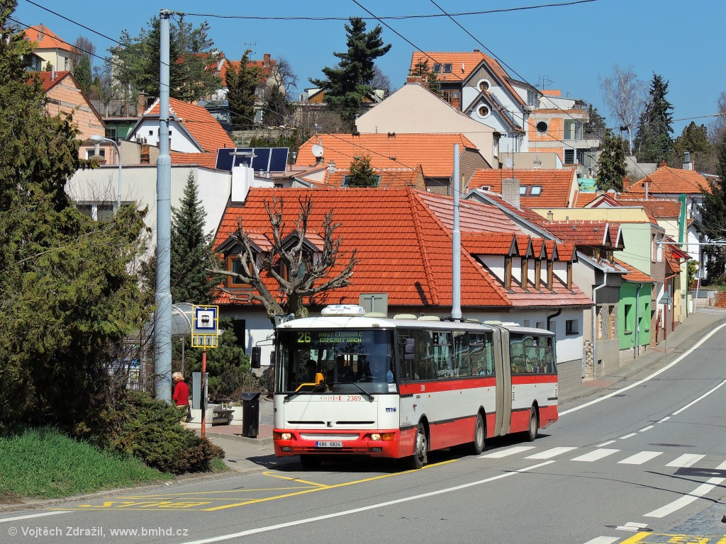 Fotogalerie » Karosa B961E.1970 6B6 6824 2389 | Brno | Nový Lískovec | Rybnická | Kluchova