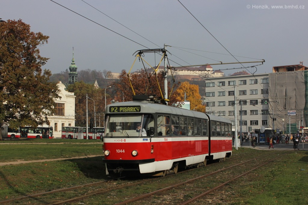 Fotogalerie » ČKD Tatra K2T 1044 | Brno | Staré Brno | Veletržní